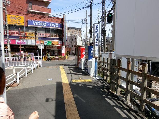 線路前の写真